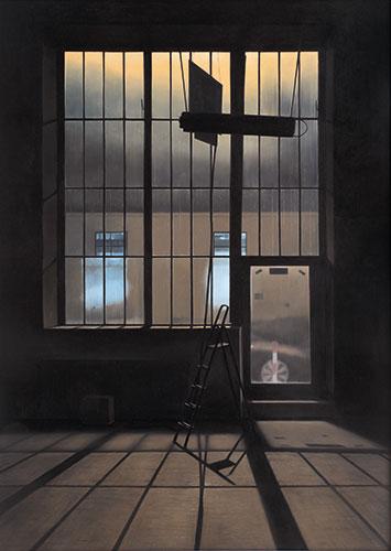 2014  AEG Hallenfenster154 x 110 cmÖl auf Holz