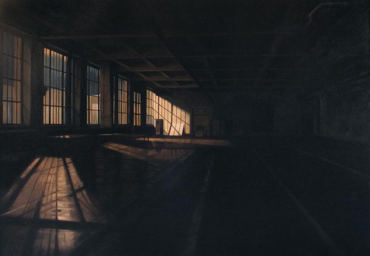 2008  AEG Halle112 x 158 cmÖl auf Holz