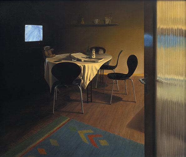 2008 Abendessen80 x 95 cmÖl auf Holz