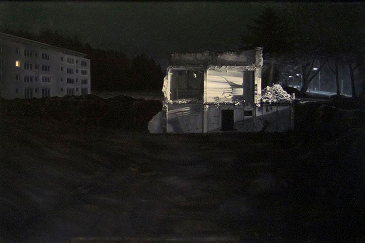 2008  Altenheim (Romantik gebrochen)88 x 122 cmÖl auf Holz