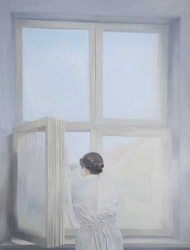 2015  Am Fenster110 x 84 cmÖl auf Holz