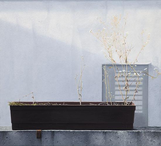 2014  Blumenkasten64 x 70 cmÖl auf Holz