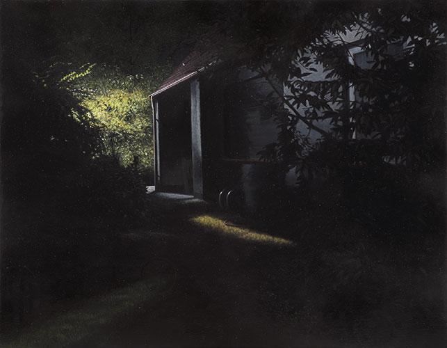 2014  Elternhaus68 x 86 cmÖl auf Holz