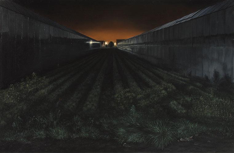 2009  LandWirtschaft72 x 110 cmÖl auf Holz