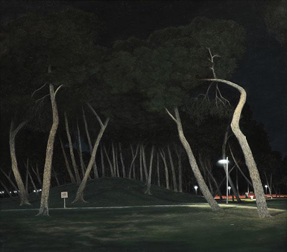 2016  Park (Mallorca)89 x 101 cmÖl auf Holz