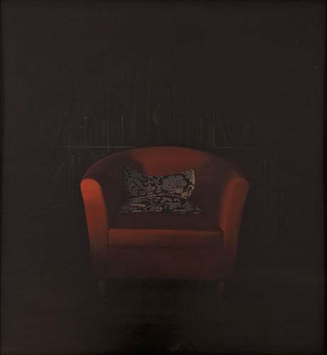2010  Sessel99 x 91 cmÖl auf Holz