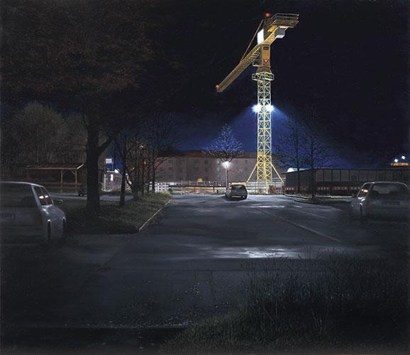 2014  U-Bahn Baustelle74 x 80 cmÖl auf Holz