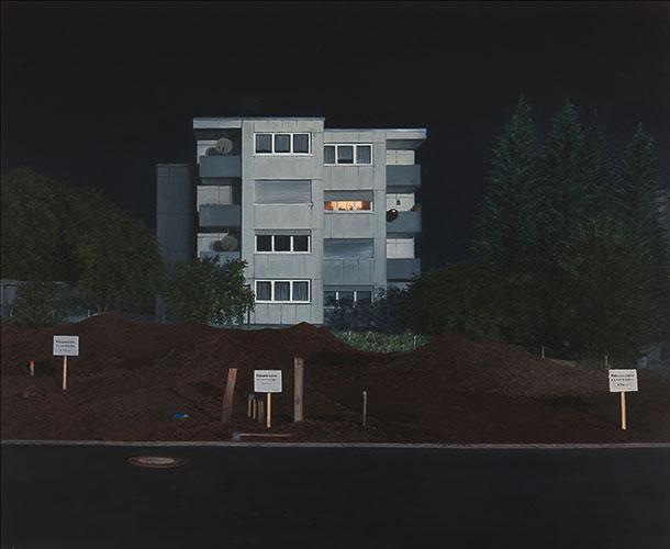 2011  Haus mit Aussicht65 x 79 cmÖl auf Holz